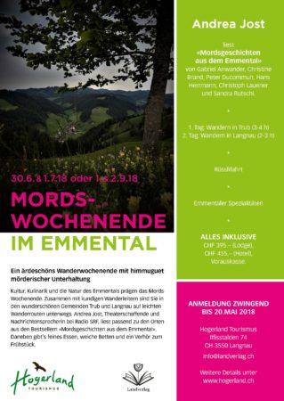 Mail Mordswochenende A4 Sandra Rutschi |Autorin Bern